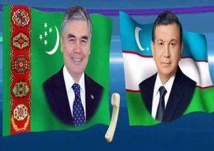 zbegistan bilen Türkmenistanyň prezidentleri 1 300x212 - Özbegistan bilen Türkmenistanyň prezidentleriniň sebitiň ýagdaýy barada maslahatlaşdylar