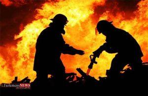 آتش سوزی یک واحد مسکونی در گرگان