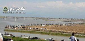 شکستن یک سد کیسهای و اعلام وضعیت اضطراری در آق قلا گلستان