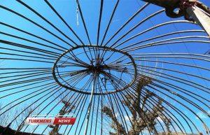 ترکمن 2 300x193 - نحوه ساخت آلاچیق سنتی ترکمن