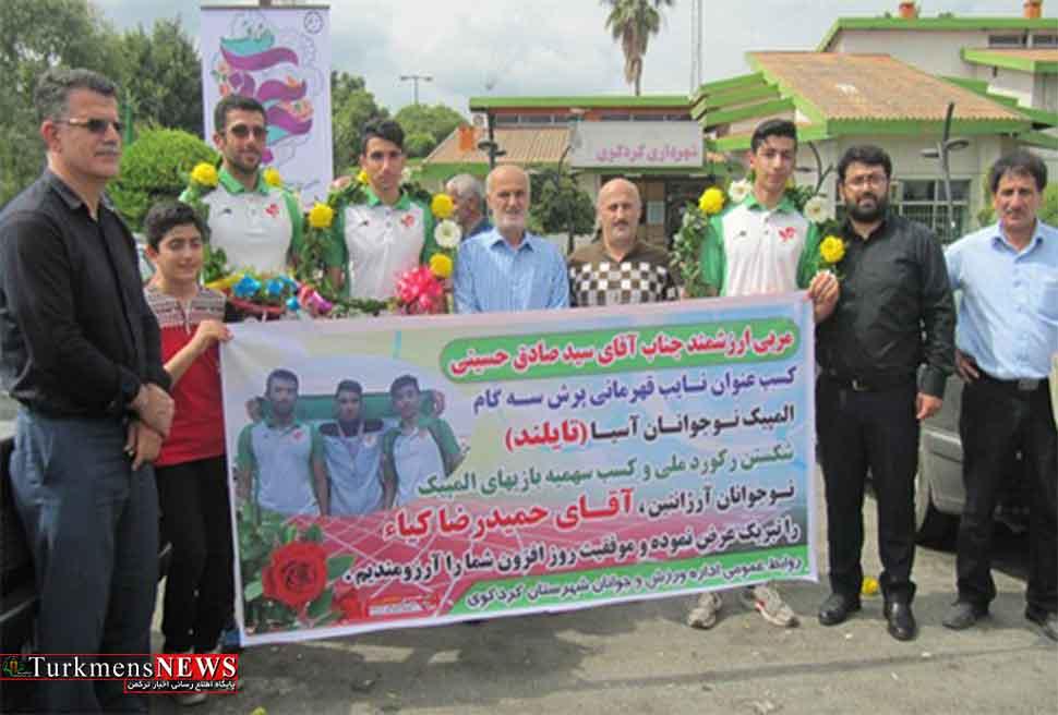 از نایب قهرمان المپیک نوجوانان آسیا در زادگاهش استقبال شد