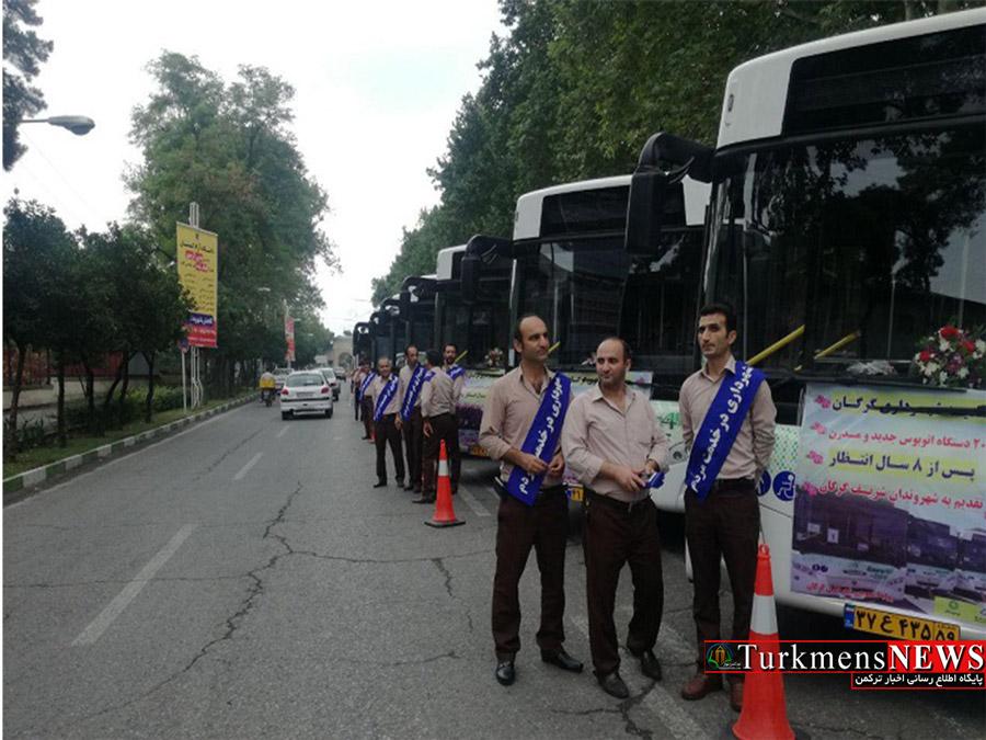 از 20 دستگاه اتوبوس مدرن شهری در گرگان رونمایی شد