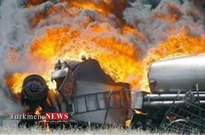 انفجار تانکر قیر در گنبدکاووس