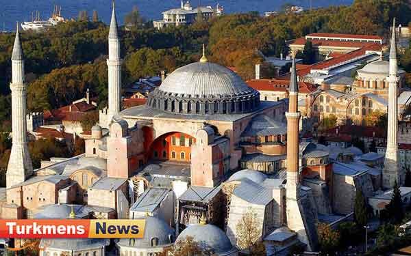 ترکیه - ایاصوفیادا عیباداتا آچیلماغا طایار یاغدایا گلیأر