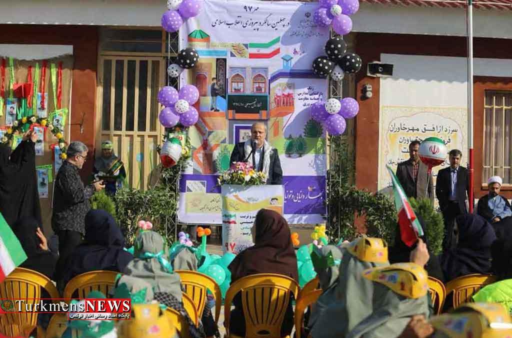 با آغاز سال تحصیلی زنگ مقاومت و پیروزی در مدارس گلستان نواخته شد+ تصاویر