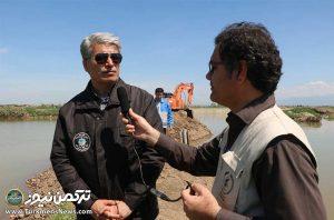فرماندار 2 300x198 - شهرستان ترکمن 25 روز در مقابل بحران سیل استقامت کرد+ تصاویر