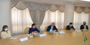 سازمان ملل 1 300x151 - رئیس جمهور ترکمنستان با نماینده سازمان ملل در «عشق آباد» دیدار کرد