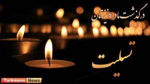 درگذشت مادر 300x169 - پیام تسلیت به عظیم جزیده در پی درگذشت مادر گرامیشان
