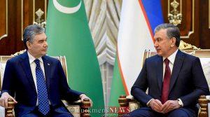 ازبک 2 300x167 - دیدار روسای جمهور ترکمنستان و ازبکستان برای گسترش مراودات دو کشور+عکس