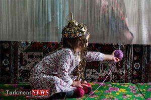 فرش ترکمن در خراسان شمالی 1 Copy 300x198 - شبکه های تولید فرش دستباف در پنج روستای خراسان شمالی ایجاد شد
