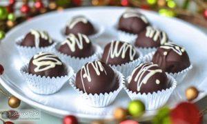 های شکلاتی 300x180 - توپک های شکلاتی، یک دسر نیم ساعته و خوشمزه