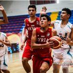 تیم سوریه درمسابقات بسکتبال نوجوانان غرب آسیا برابر عراق پیروز شد