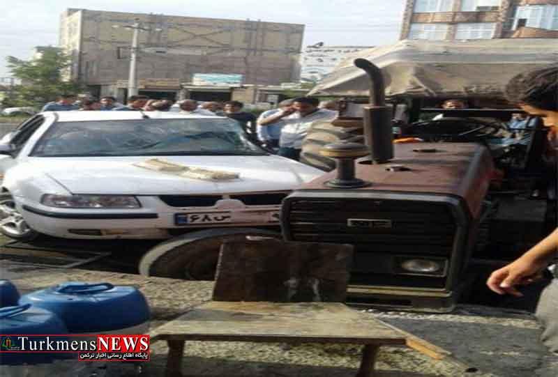 حادثه رانندگی در منطقه مرزی گنبد کاووس سه مجروح برجای گذاشت
