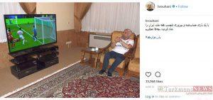 روحانی فوتبال 4 300x141 - روحانی در خانه بازی ایران-مراکش را تماشا کرد+عکس