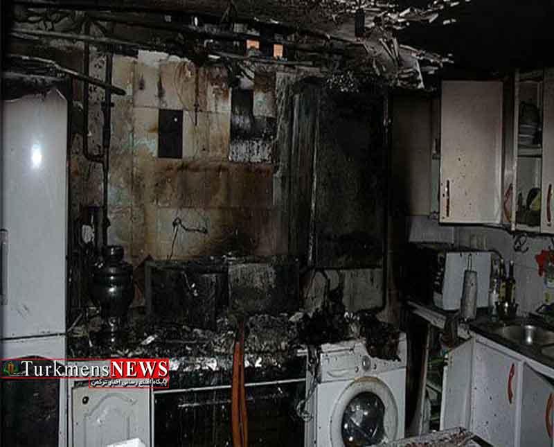 دو واحد مسکونی در بندرترکمن آتش گرفت