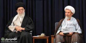 مومنی خامنه ای 300x151 - رهبر انقلاب رحلت فقیه پارسا آیت الله محمد مؤمن را تسلیت گفتند