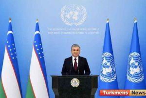 جمهور ازبکستان 300x201 - Özbek Lideri BMG-niň Baş Assambleýasyna Özbek Dilinde Çykyş Etdi