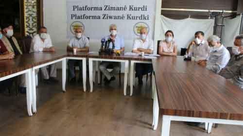 کردی - درخواست انجمن زبان کردی برای تأسیس سازمان زبان کردی در ترکیه