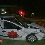 دراثر برخورد دو خودرو عروس و داماد ترکمن راهی بیمارستان شدند