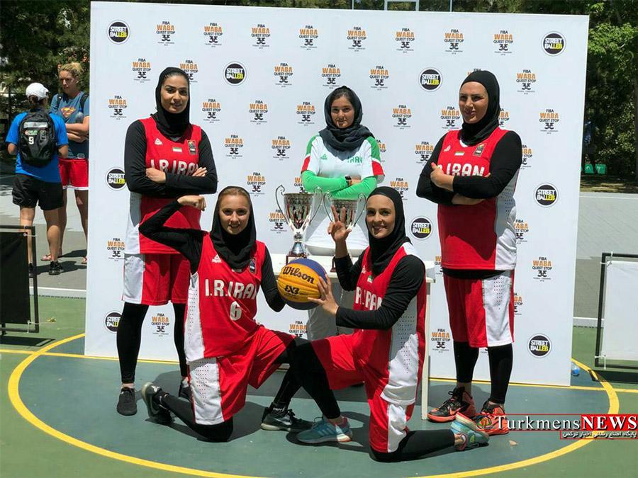سعیده علی بازیکن گنبدی به همراه تیم ملی بسکتبال قهرمان غرب آسیا شدند