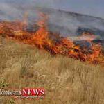سوختن 90 هکتار از اراضی کشاورزی آق قلا در آتش