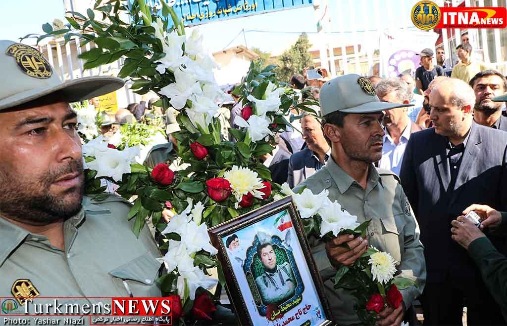 تشییع شهید محیطبان باشقره