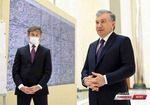 میرضیایف ۲ 300x211 - بازدید رئیس جمهور ازبکستان از پروژههای گردشگری، صنعتی و شهری/مرمت مقبره علیشیر نوایی