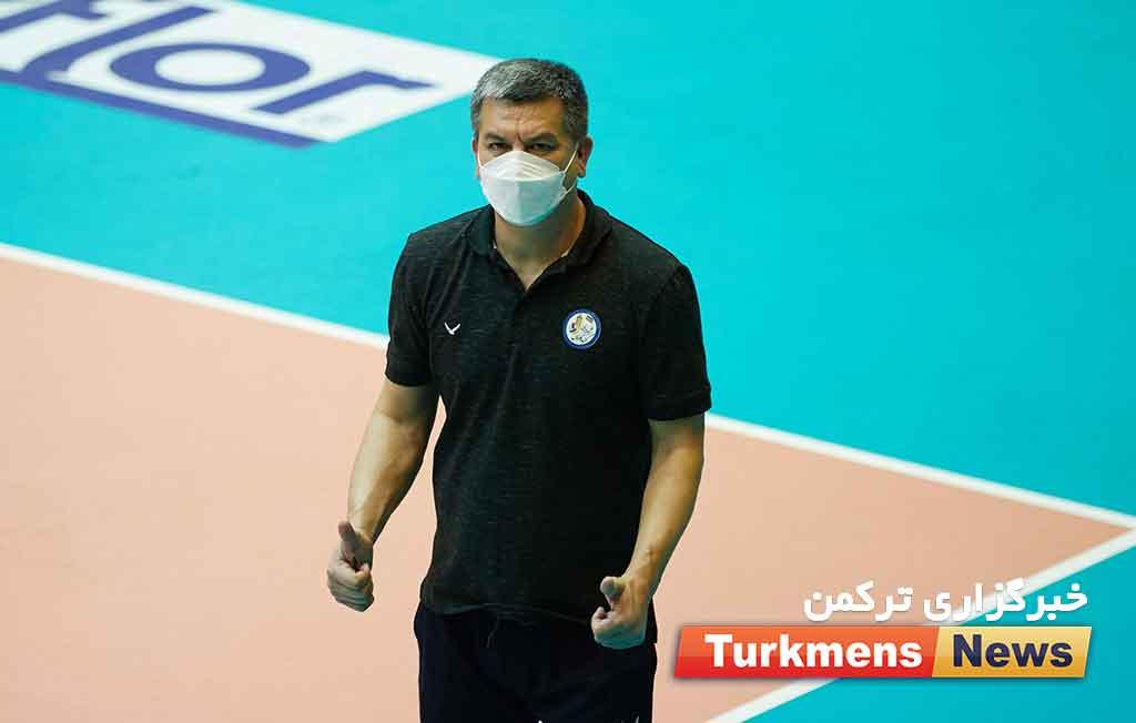 عظیم جزیده به عنوان مربی در اردوی تیم ملی والیبال ایران