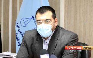 یزدانی رئیس دادگستری گنبد 300x188 - با اهتمام نیکوکار گنبدی 540 پرونده در دادگستری گنبدکاووس منجر به صلح و سازش شده است