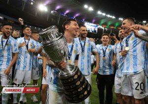 قهرمانی آرژانتین 2 300x211 - آرژانتین با پیروزی بر برزیل پس از ۲۸ سال قهرمان کوپا آمریکا شد+عکس
