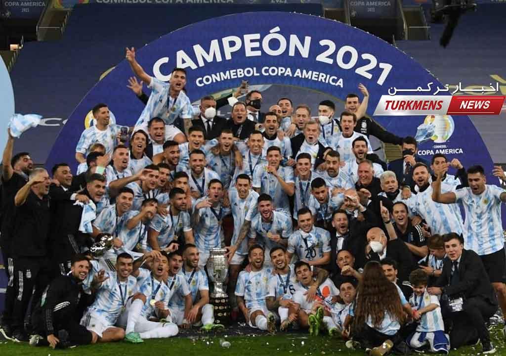 آرژانتین با پیروزی بر برزیل پس از ۲۸ سال قهرمان کوپا آمریکا شد+عکس