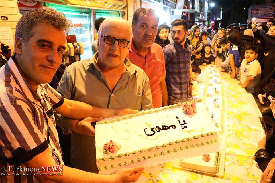 قنادی خوشه, نیمه شعبان, توزیع کیک