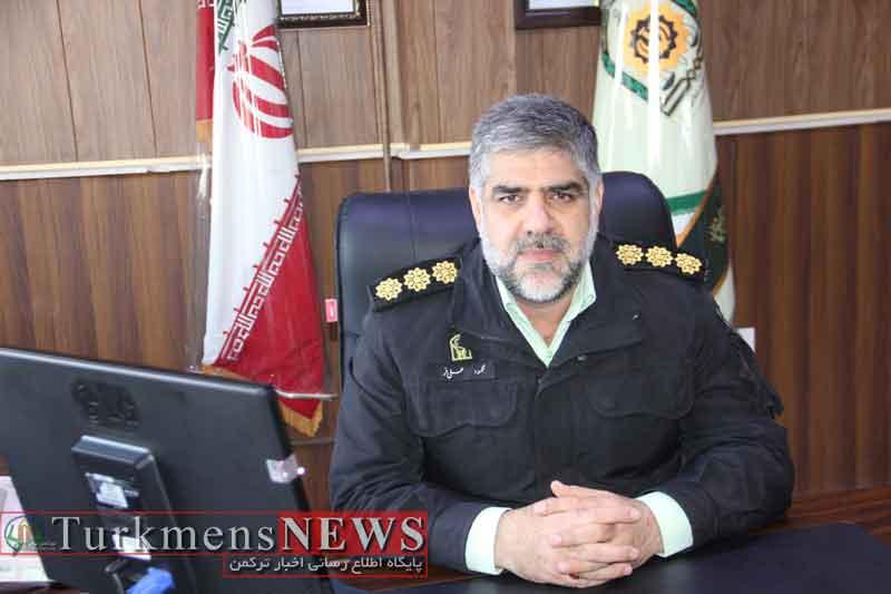 محمود علی فر رییس نیروی انتظامی شهرستان گنبد کاووس
