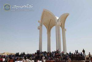 مراسم گرامیداشت مخدومقلی فراغی در شرایط کرونایی