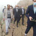 خانه های تخریب شده رانش زمین روستای آق امام تا شهریور احداث می شود