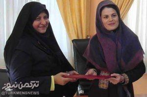 طریک 300x199 - بانوی هنرمند ترکمن رییس اداره فرهنگ و ارشاد اسلامی آق قلا منصوب شد