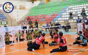 والیبال نشسته شهرداری گنبد 300x188 - پیروزی شهرداری گنبد در روز دوم مسابقات والیبال نشسته کشور