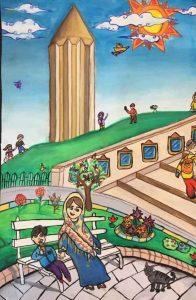 برج قابوس 196x300 - مسابقه نقاشی ویژه کودکان و نوجوانان با عنوان برج قابوس