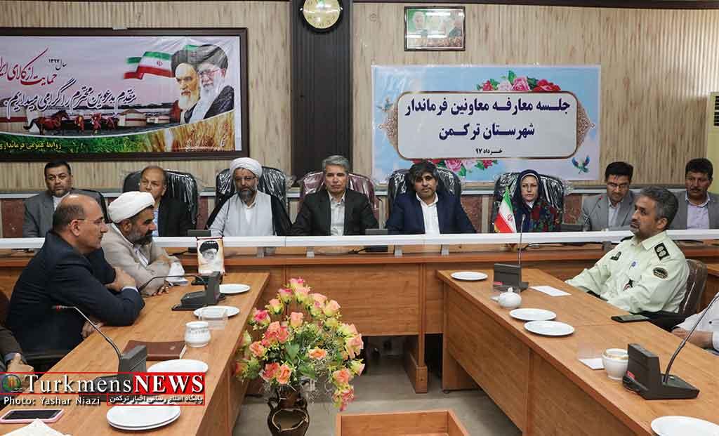 2 - مراسم معارفه و تکریم معاونین فرمانداری شهرستان ترکمن برگزار شد+عکس
