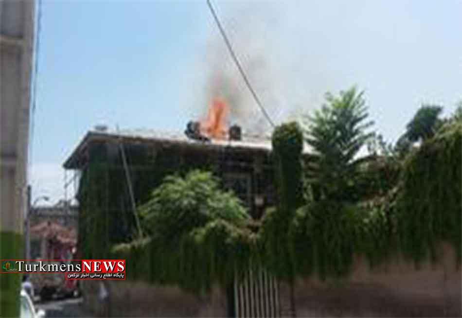 مهار آتش خانه تاریخی درگلستان