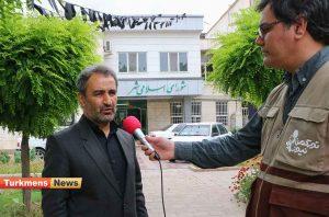 اله آخوندی ترکمن نیوز 300x198 - برای کاهش ترافیک پروژه روگذر میدان بسیج و میدان امام علی در دست اقدام است+فیلم مصاحبه