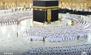 جمعه مسجدالحرام 300x181 - نخستین نماز جمعه بدون فاصله گذاری اجتماعی در مسجدالحرام اقامه شد