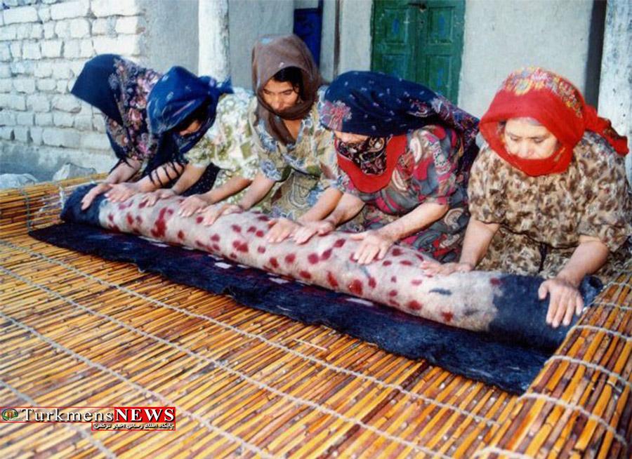 نوای ترانه های نمدمالان ترکمن در کوچه ها نمی پیچد
