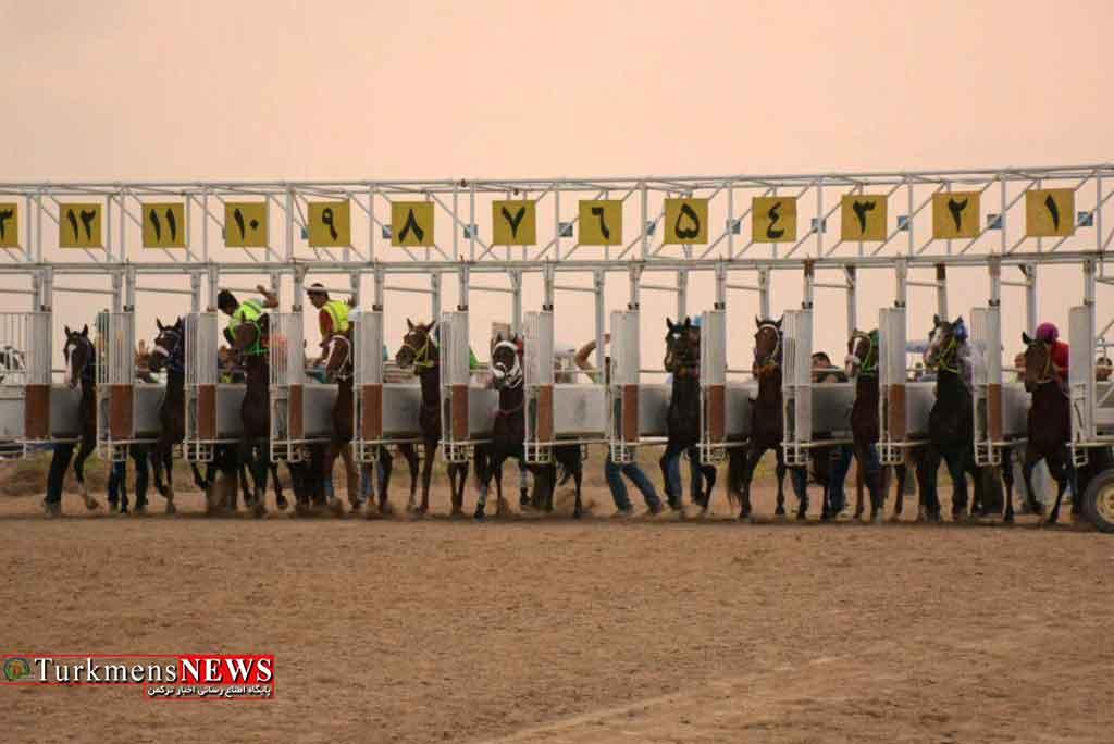 هفته سوم مسابقات اسبدوانی کورس تابستان بندرترکمن برگزار شد+عکس