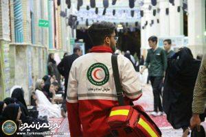 احمر گلستان شب قدر 300x200 - فعالیت ۶۴ تیم امدادی گلستان در شب های قدر/ خدمات دهی به ۳۲۳ نفر
