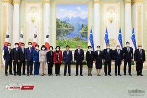 پارلمانی کره جنوبی با رئیس جمهور ازبکستان 1 300x201 - هیأت پارلمانی کره جنوبی با رئیس جمهور ازبکستان دیدار کرد+ تصاویر