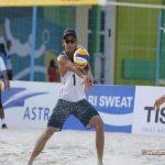 والیبالیست های ساحلی گلستان در مسابقات آسیایی جاکارتا دو پیروزی کسب کردند