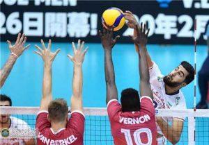 ایران کانادا3 300x209 - نخستین پیروزی والیبال ایران با جوانان