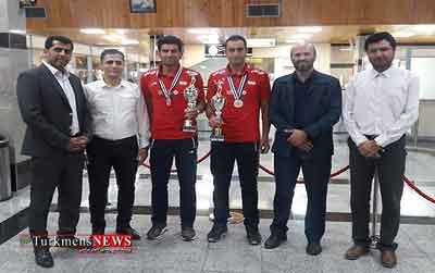 مسئولان گلستان از مدال آوران والیبال ساحلی استقبال کردند