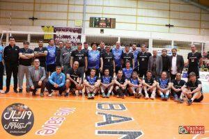 هنرمندان پیشکسوتان گنبد 300x200 - پیشکسوتان گنبد بازی خیریه را به تیم والیبال هنرمندان واگذار کردند